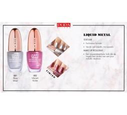 Pupa Material Luxury liquid metal nail polish 001